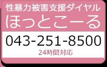 性暴力被害支援ダイヤル ほっとこーる 043-251-8500(24時間対応)